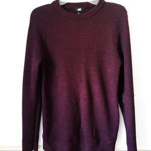 H&M • Maroon Purple Knit Sweater